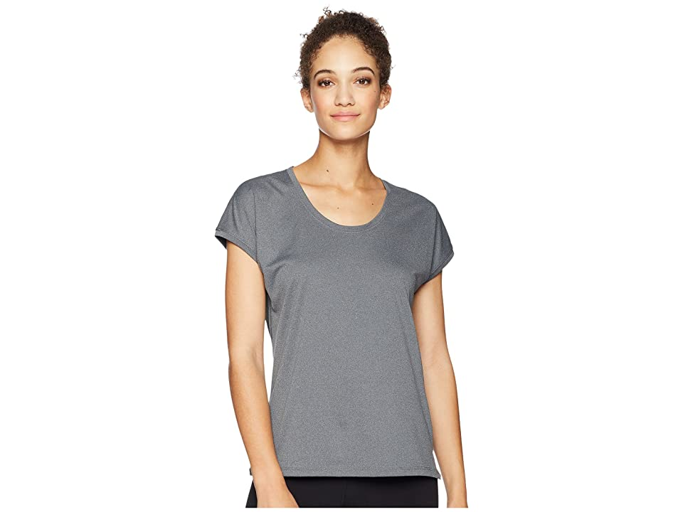 ASICS Legends Cap Sleeve Top (Dark Grey Heather) Women