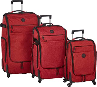 Stractic soft case trolley 3 pcs set with 4 wheel 9850-Red