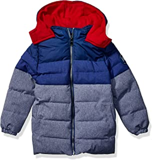 Perry Ellis Boys' Textured Colorblock Puffer