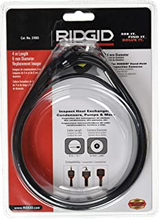 RIDGID 37093 6-mm Imager Head Accessory with 4-meter Cable, Camera Head, RIDGID SeeSnake Parts
