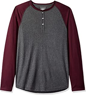 Amazon Essentials Men's Slim-Fit Long-Sleeve Henley Shirt