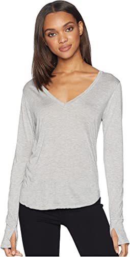 Drapey Modal Long Sleeve V-Neck