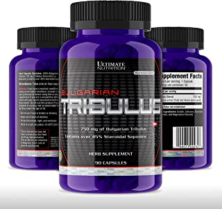Ultimate Nutrition Tribulus Terrestris for Men - Testosterone Booster and Estrogen Blocker – Ultra Potent 45% Steroidal Sa...