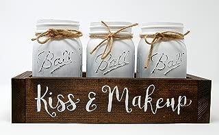 mason jars for makeup brushes
