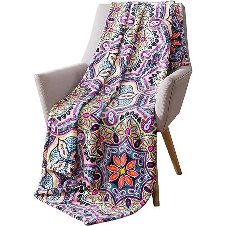 Tribal Pastel African Fleece Blanket Bedroom Decor Throw Blanket Pink Purple Blue Cream boho native
