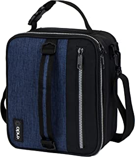 OPUX Premium Thermal Insulated Lunch Bag| Durable Lunch Box for Adult Men Women | Soft Leakproof Lining with Shoulder Strap | Compact Work Lunch Pail (Navy)