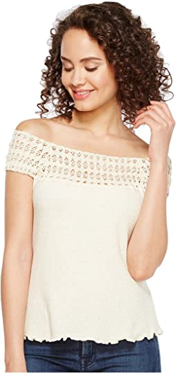Cantina Talia Organic Cotton Off the Shoulder Top