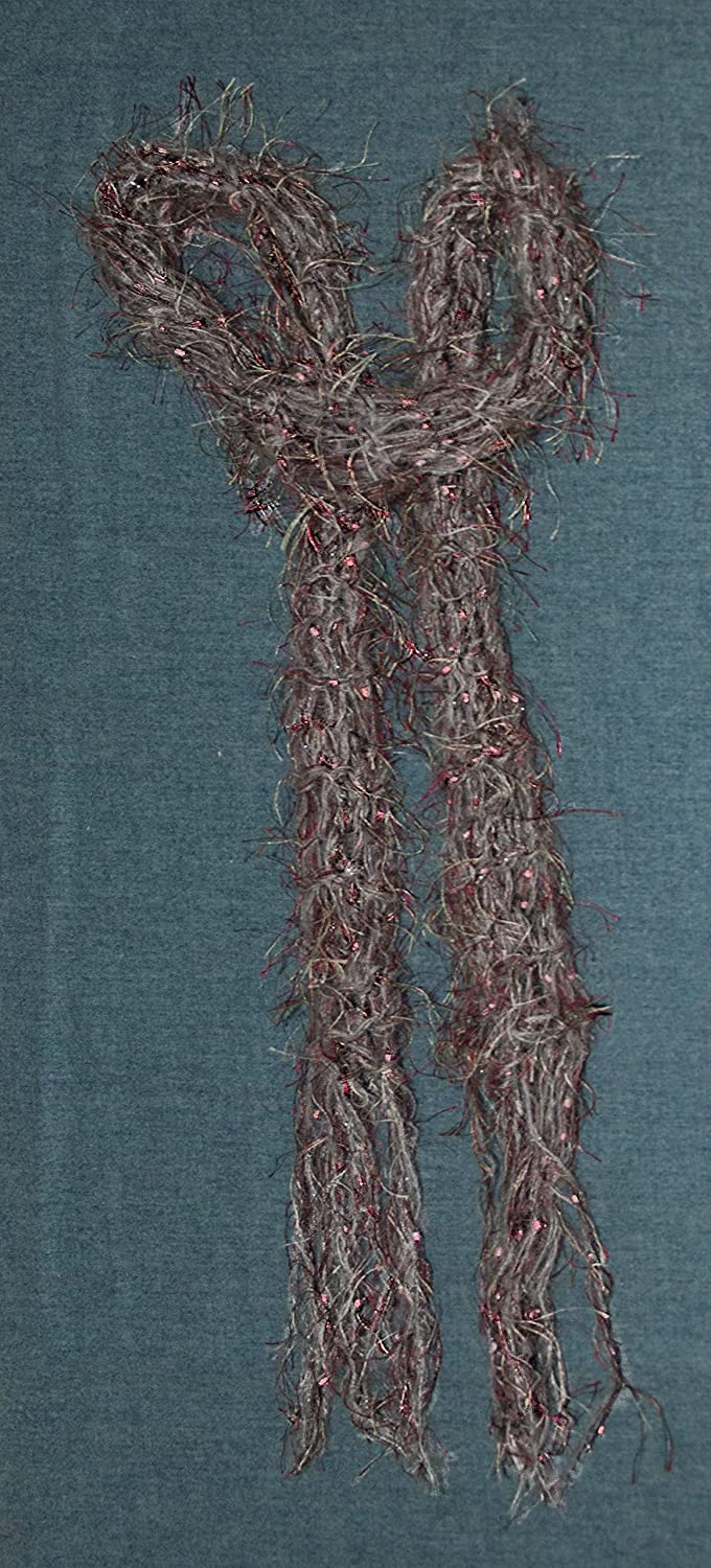 Women's Ranking TOP5 Scarf Delicate Lacy Hand Excellent Pink Knit and Grey
