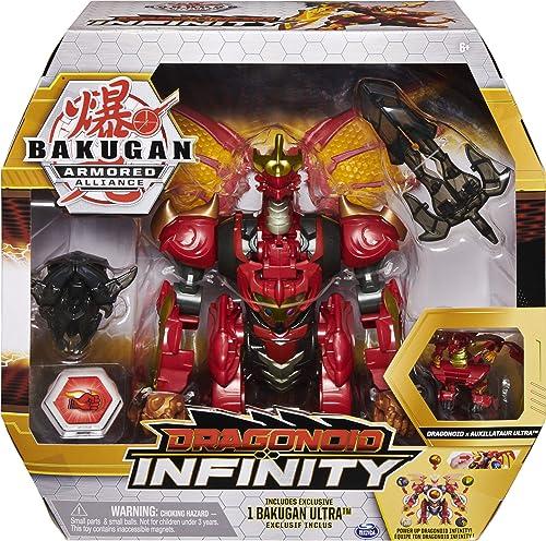 BAKUGAN ARMORED ALLIANCE – DRAGONOID INFINITY – Figurine Articulée Dragonoid Avec Accessoires et Bille Bakugan– 60583...