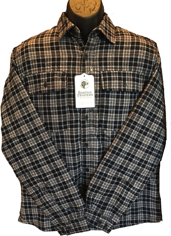 Boston Traders Mens Max 70% OFF Fleece Ranking TOP7 Flannel Shirt Plaid