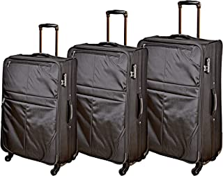 تراك حقيبة سفر بعجلات للجنسين اسود ، B134-3PC