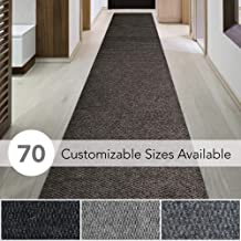 iCustomRug Spartan Weather Warrior Duty Indoor/Outdoor Utility Berber Loop Carpet Runner, Area Rugs, 3ft,4ft,6ft Widths 70 Custom Sizes with Natural Non-Slip Rubber Backing 3' X 8' in Brown