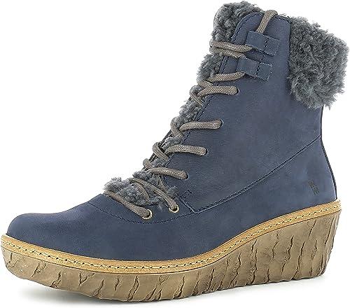 El Naturalista N5139 - Stiefel de Cuero para damen, Farbe Blau, Größe 41 EU