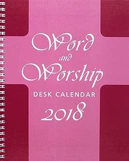 Word and Worship Desk Calendar 2018