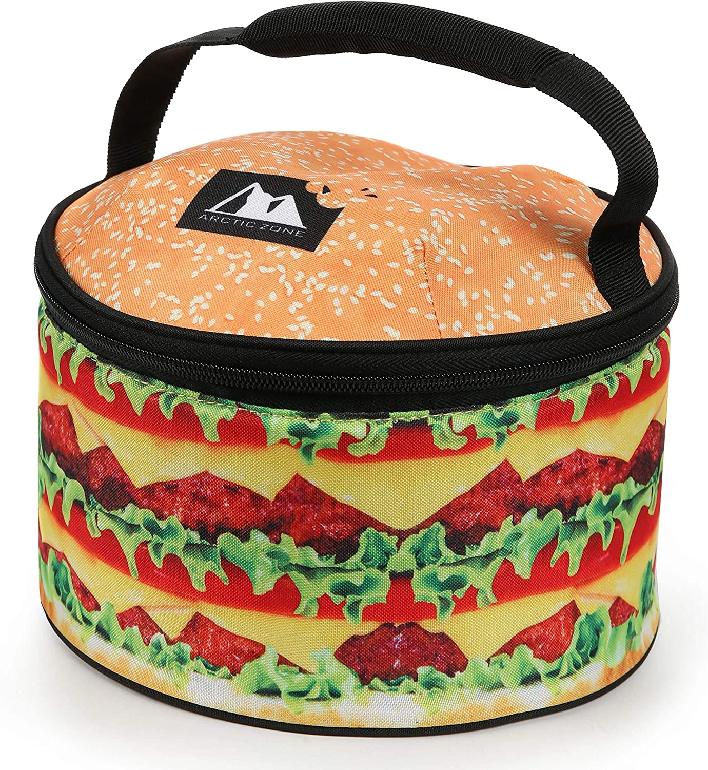 Hamburger Insulated Lunch Tote Bag Arctic Zone Insulated Leak Proof