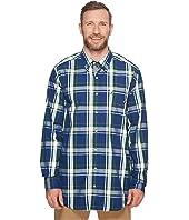Nautica Big & Tall - Big & Tall Long Sleeve Plaid Shirt