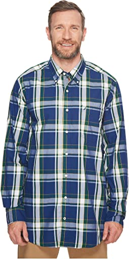 Nautica Big & Tall - Big & Tall Long Sleeve Plaid Shirt