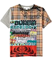 Burberry Kids - Check Text Mixed ABTOT Top (Little Kids/Big Kids)