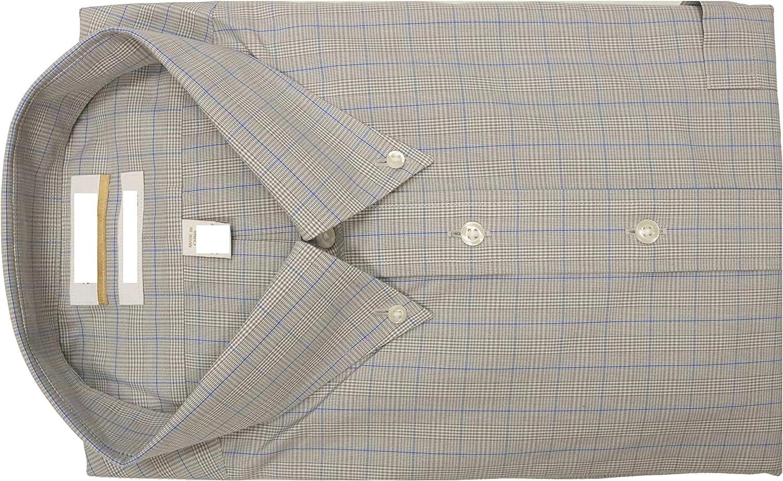 Gold Label Roundtree & Yorke Non-Iron Regular Button Down Check Dress Shirt F85DG125 Grey Multi