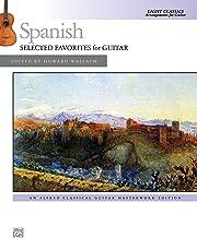 Spanish -- Selected Favorites for Guitar: Light Classics Arrangements for Guitar (Alfred Classical Guitar Masterworks)