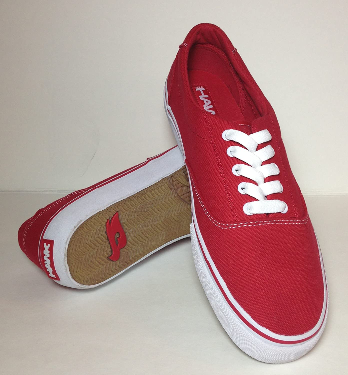 Tony Hawk Men's Thedgered Sneakers Canvas shoes, Red