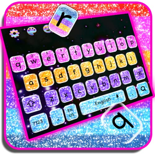 Multi Color Glitter Keyboard Theme