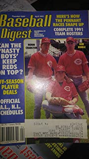 Baseball Digest April 1991 Cincinatti Reds: Norm Charlton, Rob Dibble, Randy Myers