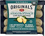 Dietz & Watson Originals No Antibiotics Ever Asiago & Spinach Chicken Sausage, 10 oz