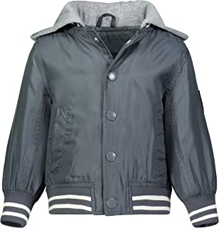 LONDON FOG boys Quilted Bomber Jacket With Hood