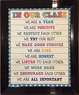 Our Class Rules Teacher Quote Artwork Print Picture Poster Home Office Bedroom Nursery Kitchen Wall Decor - unframed