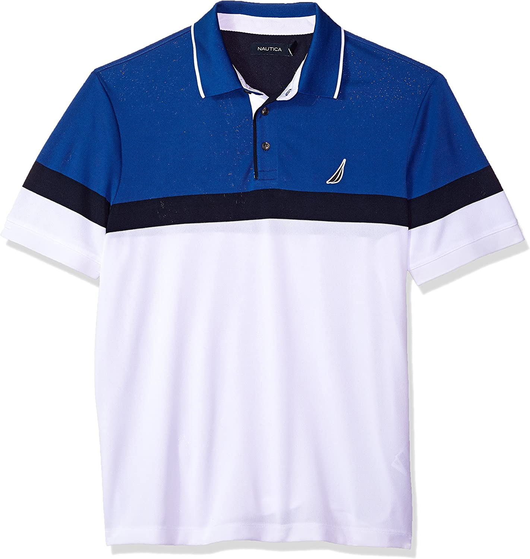 Fashionable Nautica Men's Classic Short Sleeve Block lowest price Wicking Moisture Color
