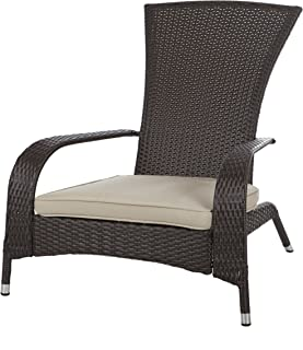 Patio Sense 61469 Coconino Wicker Chair, Mocha