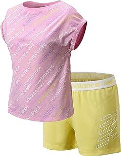 Girls' Shorts Set - 2 Piece Short Sleeve T-Shirt and Gym...