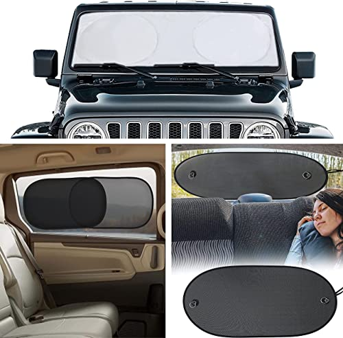 """discount EcoNour new arrival Gift Bundle   Windshield Sun Shade (X-Small 60""""x21"""") + Car Side online Window Sun Shade 20""""x12"""" (4 Pack) + Sun Shade for Back Car Window (Large 39""""x17"""")   Complete Infant Protection from Sun sale"""