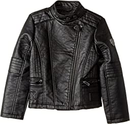 Buffalo Faux Leather Moto (Little Kids/Big Kids)