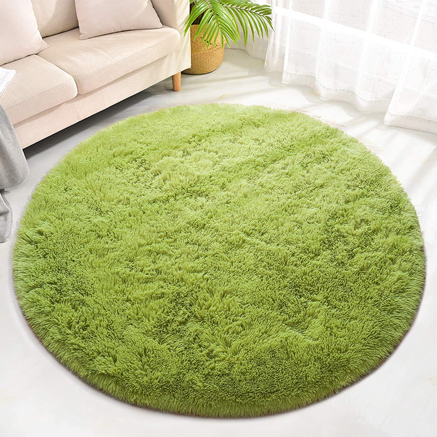 Max 67% OFF ST. BRIDGE Super Soft Round Shaggy Area Manufacturer direct delivery Indoor Fur Rugs Modern