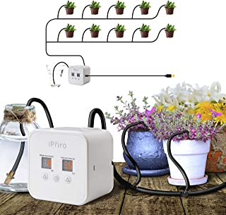 Automatic Drip Irrigation Kit with USB, Houseplants Self Watering System with 30-Day Programmable Timer and 5V USB Charging Cable, for 10 Potted Plants