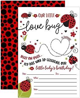 Best cheap ladybug birthday invitations Reviews