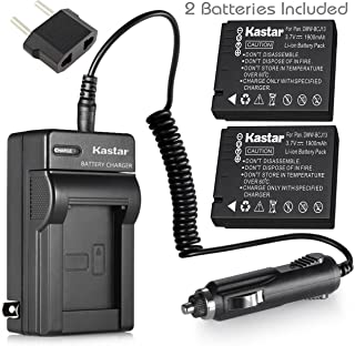 Kastar Battery (2-Pack) + Charger for Panasonic DMW-BCJ13, DMW-BCJ13E, DMW-BCJ13PP, Leica BP-DC10, BP-DC10-E, BP-DC10-U & Lumix DMC-LX5 DMC-LX55 DMC-LX5K DMC-LX5W DMC-LX7 and Leica D-Lux 5, D-Lux 6