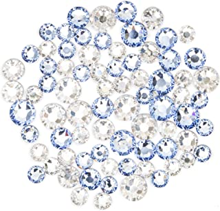 Swarovski - Create Your Style Hotfix Mix Moonlight and Light Sapphire 3 packages of 72 Piece (216 Total Crystals)