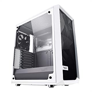 Fractal Design Meshify C - Compact Mid Tower Computer Case - Airflow/Cooling - 2X Fans Included - PSU Shroud - Modular Int...
