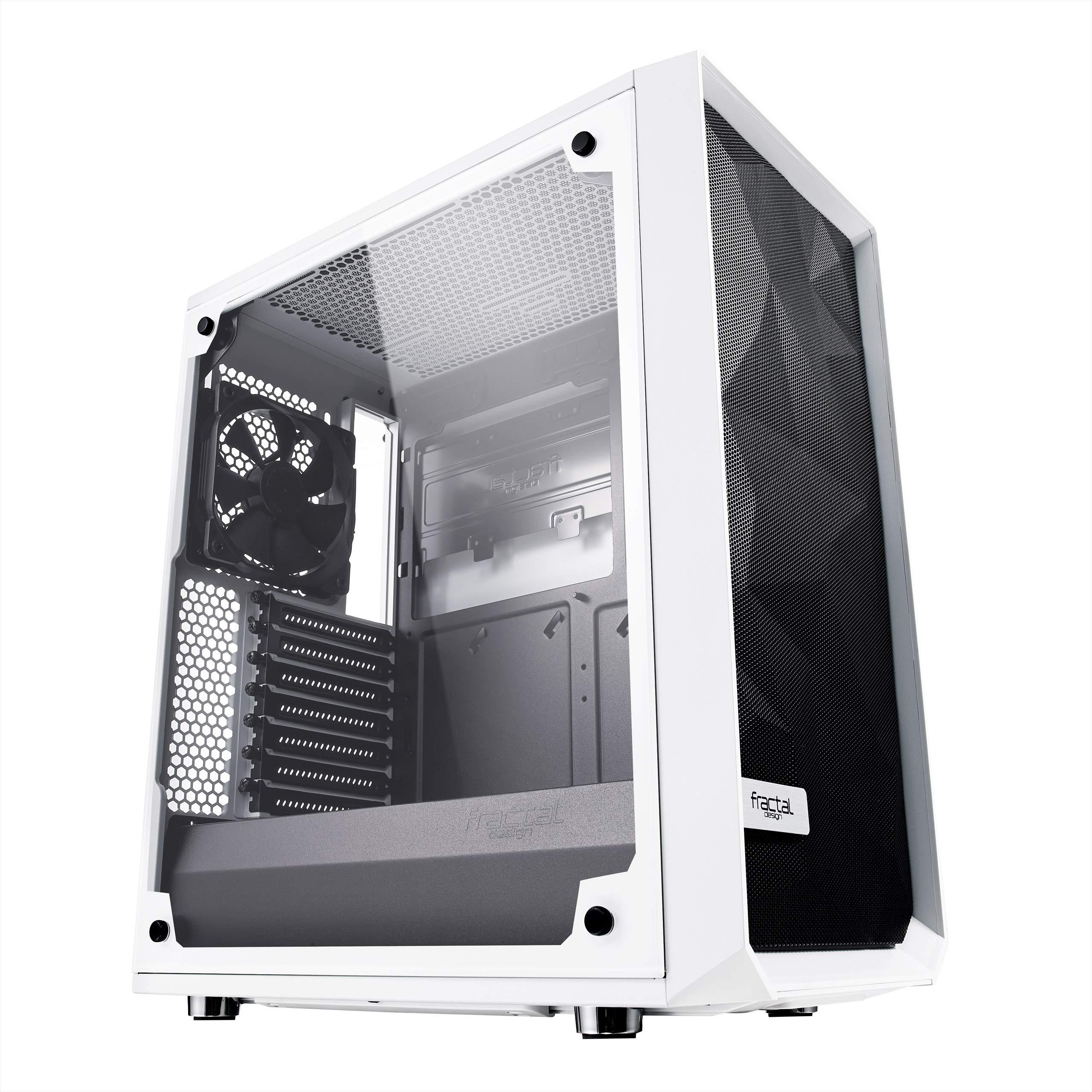 Fractal Design Cristal Templado Alto Flujo de Aire Compacto meshify C ATX PC Caso – Blanco: Amazon.es: Informática