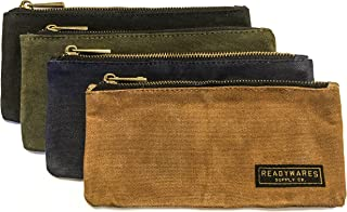 waxed canvas pencil pouch