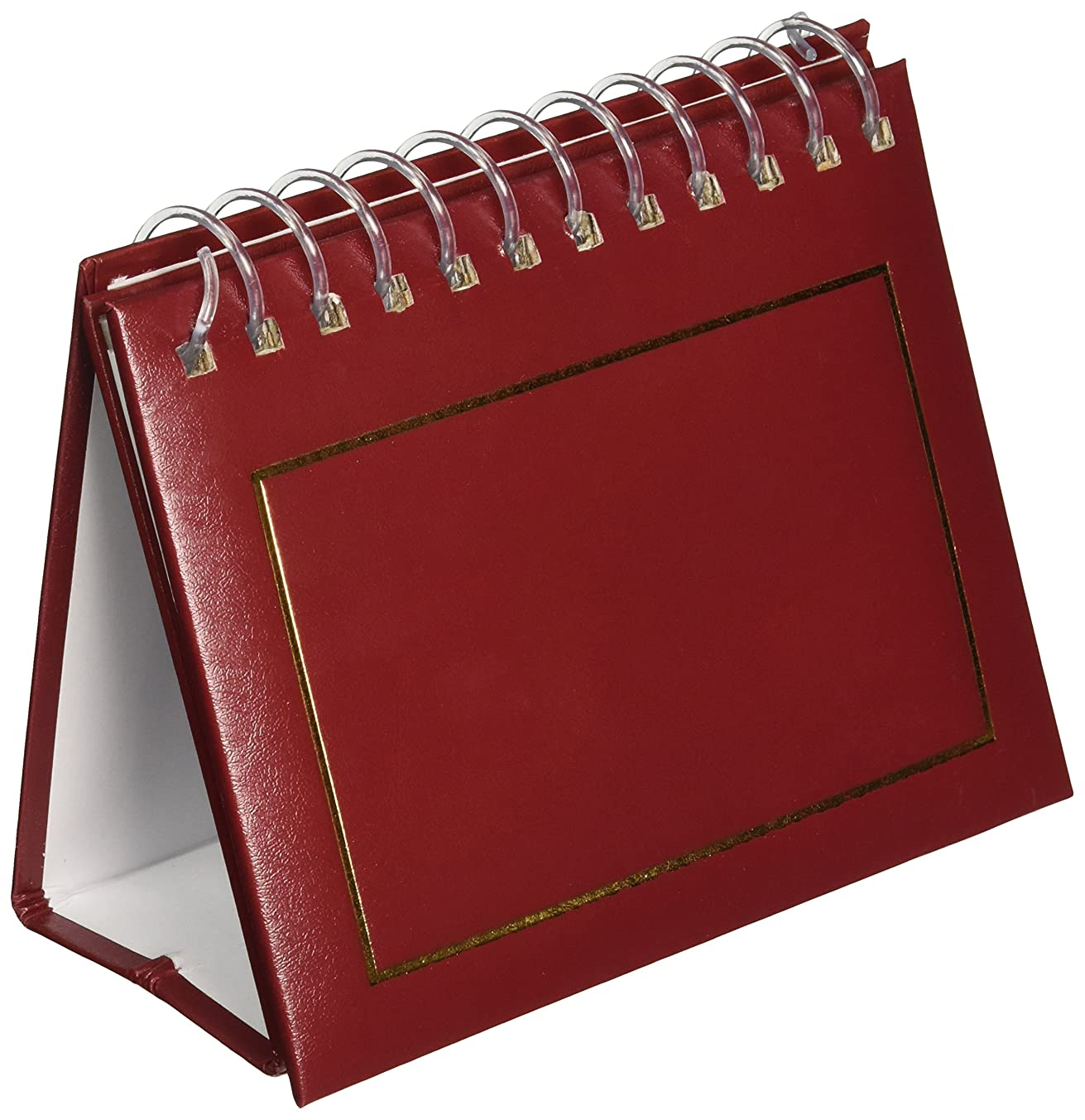 Pioneer Photo Albums 50 Pocket Spiral Bound Leatherette Mini Photo Album Easel for 4 by 6-Inch Prints, Burgundy