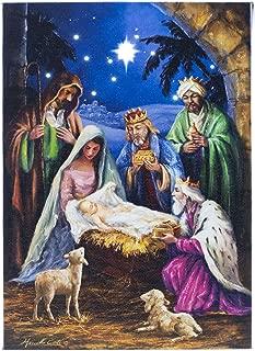 Oak Street O Holy Night Nativity LED Art 8