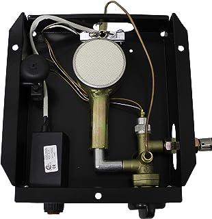 Hiland 3BOLT SGT-Burner 3 Bolt Hole Pattern Burner for Square Glass Tube Patio Heater w/Regulateor, One Size, Grey