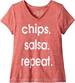 Chips Salsa Repeat Tri-Blend T-Shirt (Big Kids)
