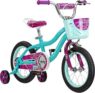 Schwinn Elm Girls Bike for Toddlers and Kids, 12, 14, 16, 18, 20 inch wheels for Ages 2 Years and Up, Pink, Purple or Teal, Balance or Training Wheels, Adjustable Seat