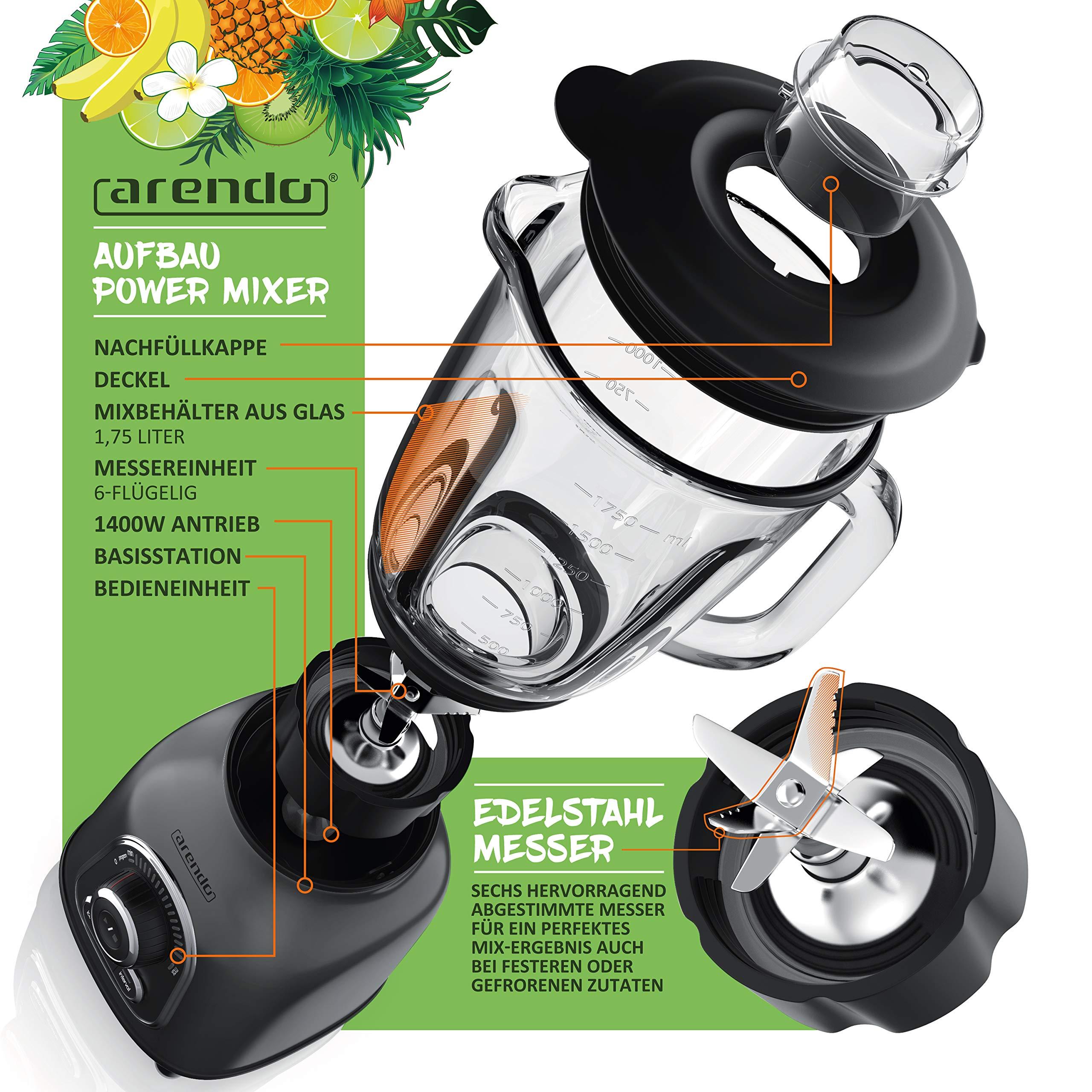 Arendo 303384 Batidora de vaso, gris (cool grey): Amazon.es: Hogar