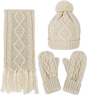 hat scarf and mitten set